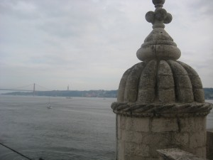 View from Belem Tower, Lisbon Portugal 2011